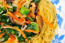 Free Vegetarian Noodle Delicacy Royalty Free Stock Photo - 18673265