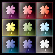 Shamrock Clover Buttons Royalty Free Stock Photo