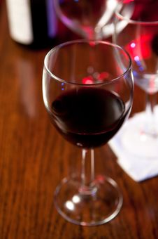 Red Wine And Glasses Royalty Free Stock Photos