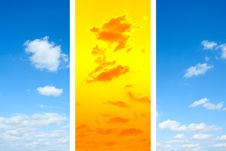 Free Blue And Orange Sky Royalty Free Stock Photo - 18675665