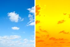 Free Blue And Orange Sky Royalty Free Stock Photos - 18675858