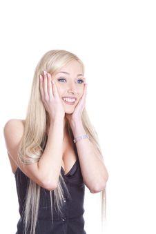 Free Amazed Smiling Woman Stock Photo - 18676230