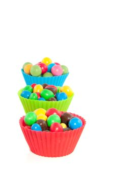 Free Candy In Cupcake Molds Stock Photos - 18676463