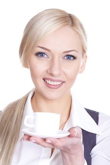 Free Business Woman Coffee Royalty Free Stock Photography - 18676737
