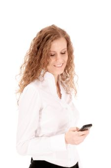 Free Woman On A Cellphone Royalty Free Stock Image - 18677006