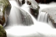 Free Cascade Falls Over Old Plum River With Rocks Stock Photo - 18679390