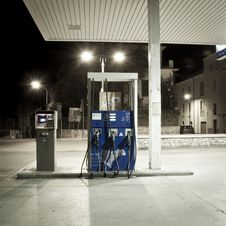 Free Old Petrol Station Fuel Royalty Free Stock Image - 18679726