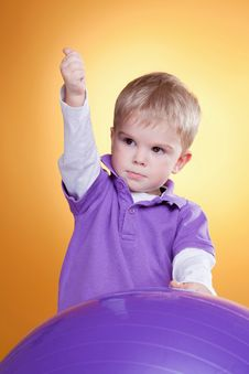 Free Young Boy Showing Ok Sign Royalty Free Stock Image - 18679976