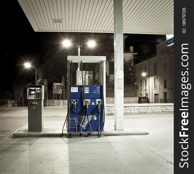 Old petrol station fuel