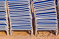 Free Stapled Beach Chairs Royalty Free Stock Photography - 18681617