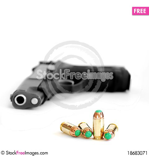 Free Bullet And Gun Stock Image - 18683071