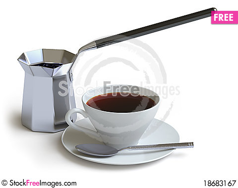 Tableware collection - push here Stock Photo