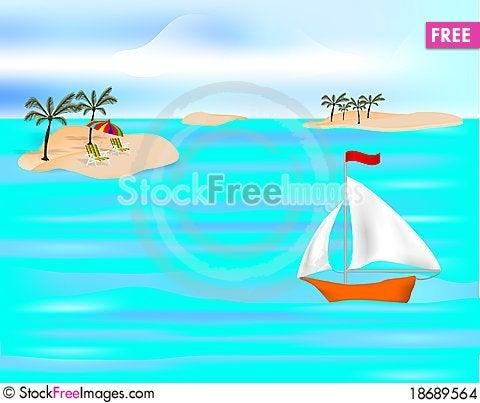 Tropical islands, cdr vector Stock Photo