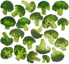 Free Multiple Broccoli Isolated - Set Royalty Free Stock Photo - 18680085