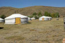 Yurt Camp In Mongolia Royalty Free Stock Photos