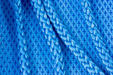 Blue Fabric And Rope Royalty Free Stock Images