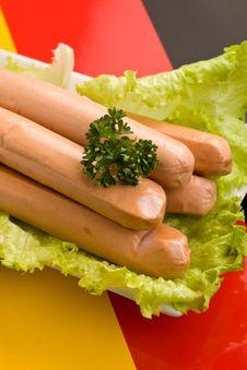 Free German Sausages Royalty Free Stock Photos - 18680698