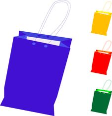 Free Colorful Gift Shopping Bag Isolated On White Royalty Free Stock Images - 18680859