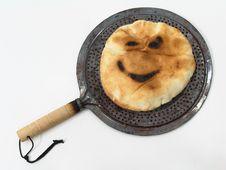 Smiley Bread Stock Photo