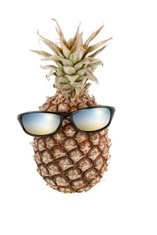 Free Pineapple With Sunglasses As Head Stock Photography - 18681502