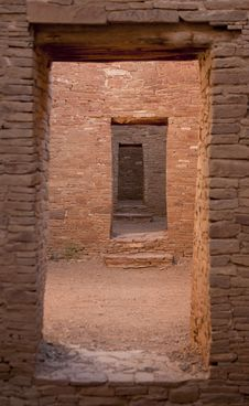 Doorway Chaco Culture National Historic Site Royalty Free Stock Images