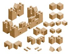 Free Isometric Cubes Castle Royalty Free Stock Photography - 18682117