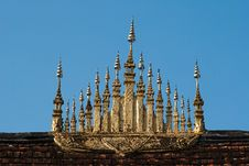 Roof Of A Buddistischen Temple, Laos Royalty Free Stock Photo