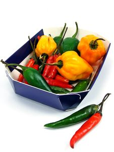 A Selection Of Mixed Chillies Stock Images