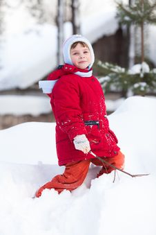 Free Kid On The Snow Royalty Free Stock Image - 18685356