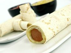 Free Tortilla With Sausage Stock Photography - 18686562