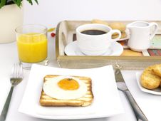 Free Fried Egg On Toast Stock Images - 18686714