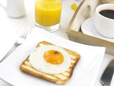 Free Fried Egg On Toast Stock Photo - 18686730