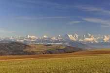 Free Bernese Alps  Seen From Zimmerwald Royalty Free Stock Images - 18687199