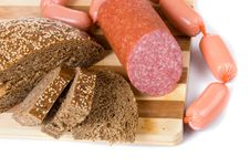 Free Bread And Sausages Stock Photo - 18687640