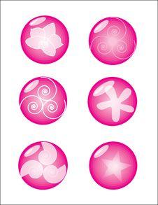 Free Glossy Pinky Royalty Free Stock Photos - 18687838