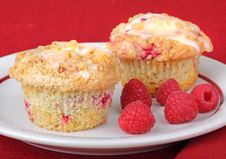 Raspberry Muffins Royalty Free Stock Image