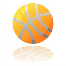 Free Basket Ball Isolated On White Royalty Free Stock Image - 18688046