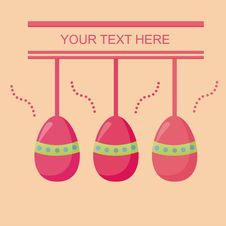 Free Cute Easter Card Royalty Free Stock Images - 18688049