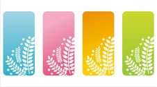 Free Colorful Floral Banners Royalty Free Stock Photography - 18688077