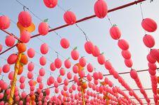 Free Red Lanterns Royalty Free Stock Photo - 18688305