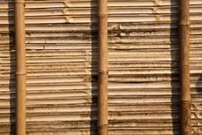 Bamboo Panel Royalty Free Stock Photo