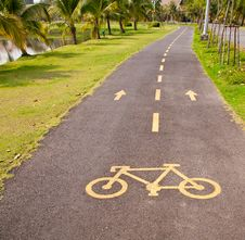 Bicycle Pathway Stock Image