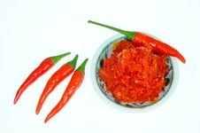 Chili And Chili Paste Royalty Free Stock Image