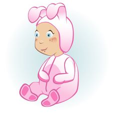 Free Easter Bunny Baby Royalty Free Stock Image - 18689346