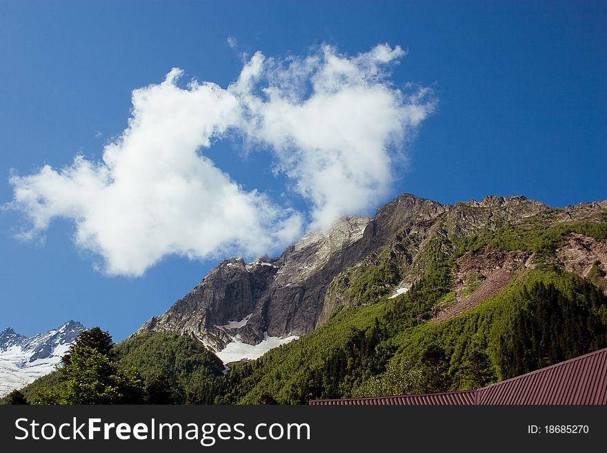 Caucasus Mountains. Dombai