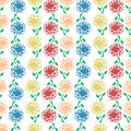 Free Colourful Flowers Repeatable Pattern Stock Photo - 18692760