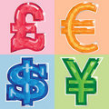 Free Jeweled Currency Symbols Royalty Free Stock Images - 18692829