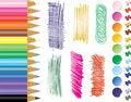 Free Pencils, Tacks, Stikers Stock Images - 18696604