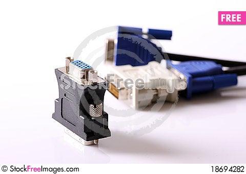 DVI/D-SUB adapter Stock Photo