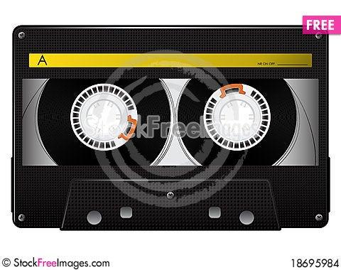 Vector audio cassette Cartoon Illustration
